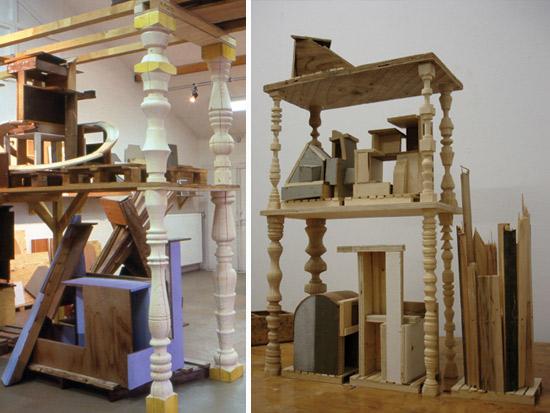 à droite : maquette