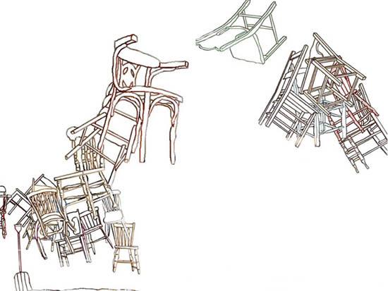 Partie de chaises en l'air, 2004