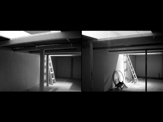 Gauche: maquette /droite: vue de l'installation