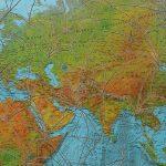 Carte du monde AIR FRANCE défoncée, 2002